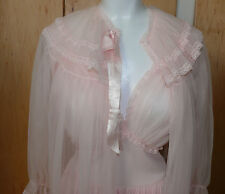 1950`s Soft Pink 2 Pc. Nylon Peignoir Set  Nightgown and Robe