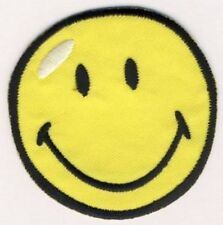 SMILEY - gelb - Aufnäher Aufbügler Applikation Patch Badge - Neu OVP #9152