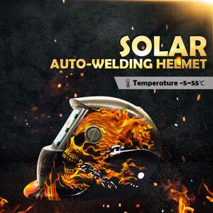 Pro Mask Solar Auto Darkening Welding Helmet Arc Tig Mig Skull