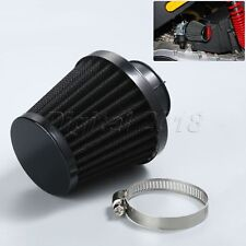 Motorcycle Air Intake Filter Pod 35mm Metal Rubber for ATV Scooter Minibike