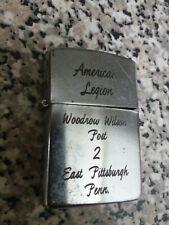VTG lighter American Legion Woodrow Wilson Post 2 East Pittsburgh Penn Calkor