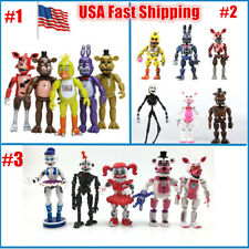 New arrival 6Pcs Fnaf Five Nights at Freddy's Action Figures Toys Kid Gift