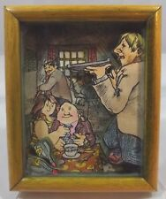 Vintage Hand-Painted Humourous Puzzle Picture by L. Fleming Sailplane Works 1974