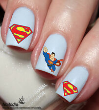 Superman Nail Art Sticker Water Transfer Decal wrap 18