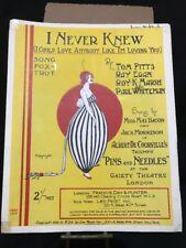 I Never Knew I Could Love Anybody Like I'm Loving You 1920 sheet music
