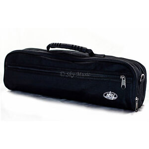 *GREAT GIFT*Padded C Flute Case COVER w Strap. Black/Burgundy/Blue*HOLIDAY SALE*