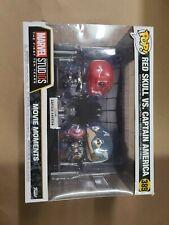 POP 389 Movie Moments Vinyl Figure Set Red Skull vs Captain America, Box Damage