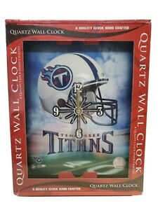 """Tennessee Titans NFL Quartz Wall Clock 10"""" x 12""""  NIB, resin battery operated ."""