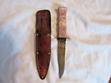 Vintage Imperial Hunting Knife Elk Plastic Handle and Belt Sheath