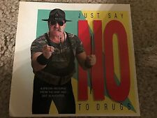"Vintage 1992 WWF SGT. SLAUGHTER ""SAY NO TO DRUGS"" Photo Print Ad WWE RARE"