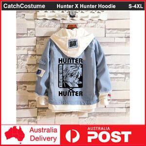 Anime Hunter X Hunter Denim Jacket Hoodie Sweatshirt Hooded Casual Coat Unisex