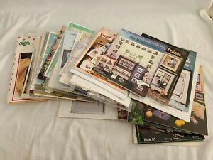 Huge Mixed Lot of CROSS STITCH Magazines Books, Patterns, and Kits