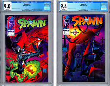 SPAWN #1-2 CGC 9.0-9.4 *TODD MCFARLANE STORIES COVERS & ART* FIRST PRINTS 1992