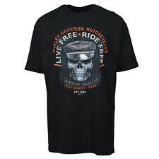 Harley-Davidson Live Free Ride Free Sanford, Florida Black Tee (Men's X-Large)