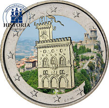 San marino 2 euros conmemorativa 2011 stgl. wehrturm en color claro