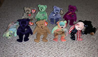 TY Beanie Babies Lot Of Various Bears Original Authentic Princess Curly Peace