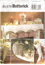 Victorian Christmas Decorations Mantle Cloth Angel Stocking Butterick 4370 Uncut