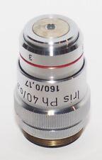 Reichert Zetopan Iris Ph 40/0.65 160/0.17 40x Phase Contrast Objective