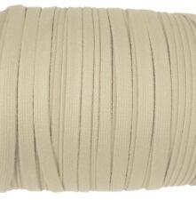 Eloja® 5 Meter Korsett Schnur hochwertig aus Baumwolle 10 mm Breit Beige