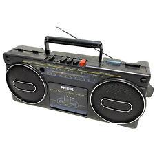 Retro PHILIPS Radio Cassette Boombox *Radio Working Only*