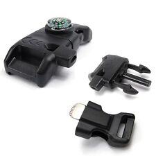 Copass Survival Whistle Buckle Flint Fire Starter Scaper for Paracord Bracelet S