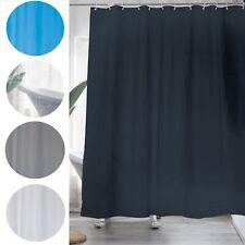 Shower Curtain Bathroom Plastic Waterproof Mildew Splash Resistant Plain 12 Ring