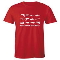 Celebrate Diversity T-Shirt 2nd Amendment Guns Rights Funny 2A Mens Tee Shirt