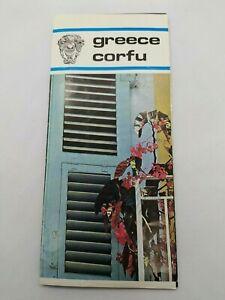 Vintage Corfu Greece Travel Brochure Guide