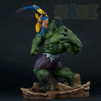 "Avengers Hulk Vs Wolverine 12"" PVC Action Figure Statue Collection Toy New"