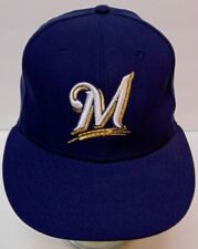 Vtg 1990s MILWAUKEE BREWERS MLB Baseball NEW ERA On Field CAP 59Fifty HAT 6 7/8