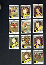 1975  BALMAIN TIGERS   RUGBY LEAGUE  CARDS - ALL 11 CARDS