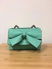 f8ef2367e4f6 New Handbag Republic Mint Bow Flap Shoulder Small Purse Bag w Gold Chain  Straps