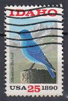 USA Briefmarke gestempelt 25c Idaho 1890 Mountain Bluebird Vogel / 331