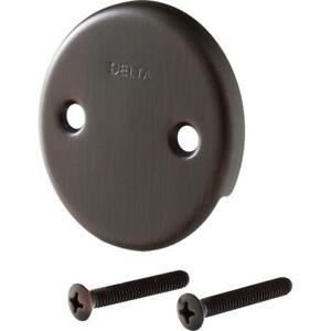 Delta Overflow Plate Screws Tub Shower Bathroom Bath Accessory Venetian Bronze
