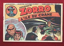Collection Supplément de Zorro n°24. L'île du crane. Claude HENRI.