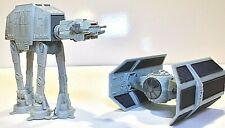 LOT of (2) Vintage Star Wars Micro Machines Vehicles AT-AT Walker & Vader's TIE