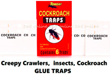 6PCS Sticky Glue Board Traps Bugs Spiders Cockroach Insects