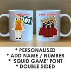 'SQUID GAME' INSPIRED DOUBLE SIDED PERSONALISED MUG - ADD A NAME AND/OR A NUMBER
