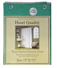 "Evergreen Heavy Weight Hotel Quality 8-gauge Vinyl  Shower Liner: 72"" x 72"""