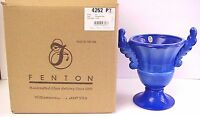 Fenton Art Glass Periwinkle Blue Urn 2004 Historic Collection New MIB