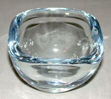 Vintage Signed  Sweden Orrefors Art Glass Heavy Crystal Bowl