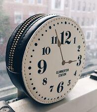 Kate Spade New York Leather Clock Small Coin Purse WLRU2291 Black White NWT