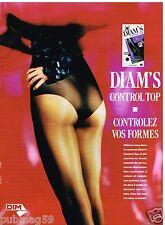 Publicité Advertising 1989 Les Bas et collants Diam's de Dim