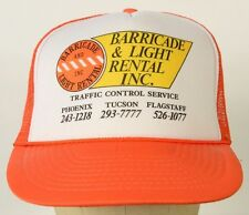 Barricade & Light Rental Inc Orange Trucker Baseball Cap Hat Adjustable Snapback