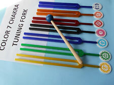 7 Color Chakra Sound Healing Tuning Fork with Chakras Sign