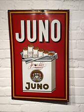 Altes Reklame Emailschild Juno Josetti Deko Schild Zigaretten Werbung