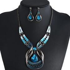 Luxury Crystal Choker Fashion Chunky Jewelry Statement Women Chain  Bib Necklace