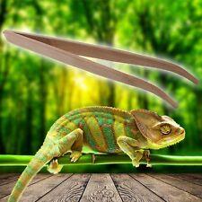 Angled Reptile Feeding Tongs Tweezers 28cm Bamboo Eco-Friendly Feeding Tool New