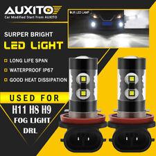 High Power 2400LM 2x 50W CREE H8 H11 6000K Xenon White LED Fog Lights DRL Bulbs