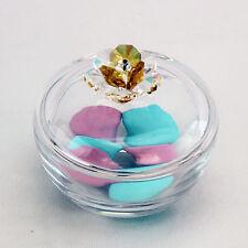 DLM24488-giallo Scatola portagioie in vetro con fiore cristallo_Giallo bombonier